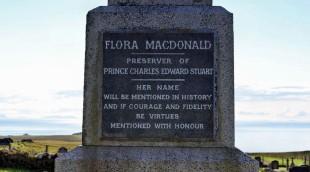 ...mit dem Grab von Flora MacDonald