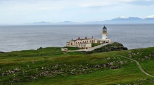 Neist Point Lighthouse aus der Nähe...