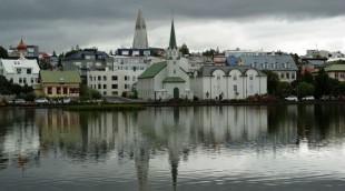 Blick über den Stadtsee Tjörnin