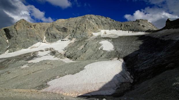 Reste des Gletschers