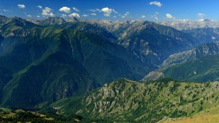 Berge überall...