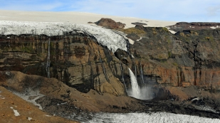 """Neuer"" Wasserfall Huldufoss"