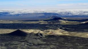 Kraterreihe gen Norden