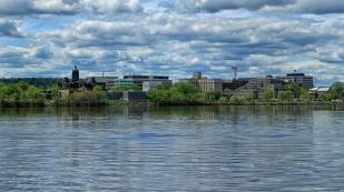 Blick auf Fredericton