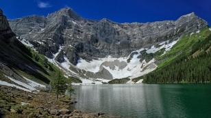 Rawson Lake mit der Kulisse des Mt. Sarrail