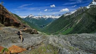 Unterwegs auf dem Great Glacier Trail...