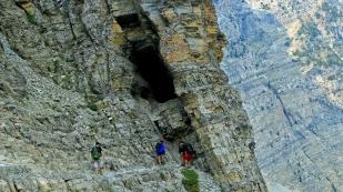 Den Eingang zum Felsentunnel...