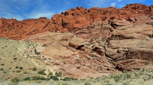 Wenig Rot im Red Rock Canyon