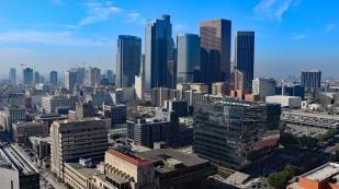 Blick von der City Hall zum Financial District