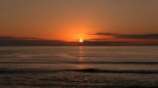 ...und gleich ein schöner Sonnenuntergang