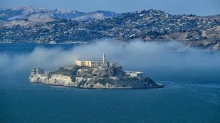 Blick nach Alcatraz vom Coit Tower
