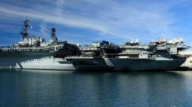 Die USS Midway hat schon viele Schlachten geschlagen