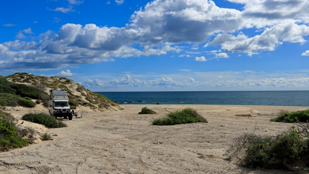 ...am breiten Strand