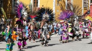Bei den Tänzen vor dem Templo de San Roque...