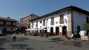 Schöne Häuser an der Plaza...
