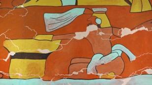 "Ausschnitt aus dem 1.800 Jahre alten ""Wandbild der Trinker"""
