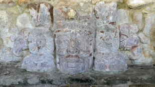 Steinmetzarbeiten am Templo de Mascarones