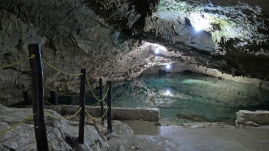 Hier geht es in die Cenote San Antonio