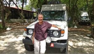 Yvonne aus der Schweiz treffen wir in der Nähe von Leon. Sie ist seit November 2016 auf dem amerikanischen Kontinent unterwegs und fährt mit ihrem Landcruiser von Süd nach Nord. Wie sie als ältere Dame allein diese Reise meistert, verdient unseren höchsten Respekt.