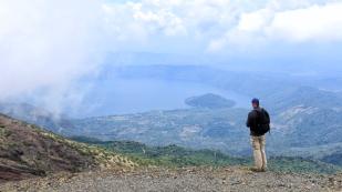 ...einem schönen Blick zum Lago de Coatepeque