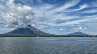 Blick zu den beiden Vulkanen