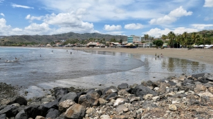 Ein schöner sauberer Strand