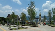 Parque Libertad mit Iglesia El Rosario