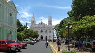 Blick zur Kathedrale Santa Ana...