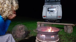 Kühl genug für ein Lagerfeuer