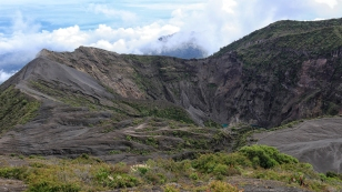 Der Kraterrand des Vulkans