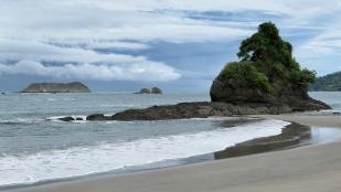 Hier ist der Strand...