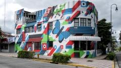 Es gibt auch bunte Häuser in San José