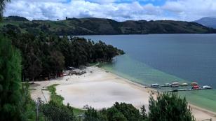 Der weiße Strand der Playa Blanca...