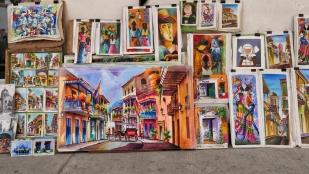 Farbige Ansichten Cartagenas und Kolumbiens sind überall erhältlich