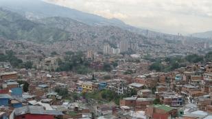 Aussicht auf die Stadt von der Comuna 13