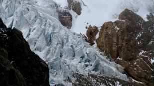 Kurzer Blick zum Gletscher