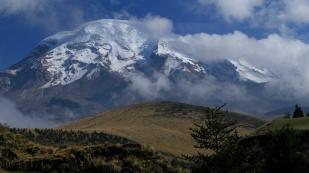 Der Chimborazo zeigt sich schon mal