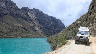 Fahrt entlang der Lagunen...