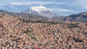 Blick zum Illimani, dem mit 6.439 m zweithöchsten Berg Boliviens