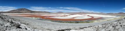 Panorama der Laguna Colorada