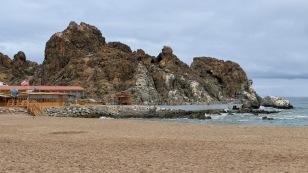 Im kleinen Hafen von Calata...