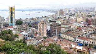 Hochhäuser zieren das Zentrum der Stadt.