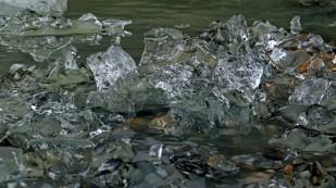 ...und kleine Kristalle an der Lagune
