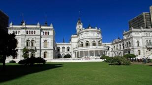 Das Rathaus von La Plata...