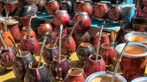 ...Wichtigste für die Argentinier: die Mate-Tassen