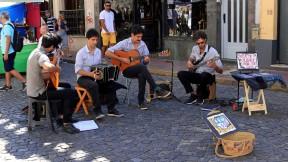 Straßenmusikanten...