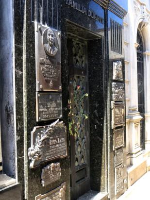 Die Grabstätte von Eva Perón (Evita)