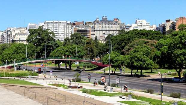Es grünt überall in Buenos Aires.