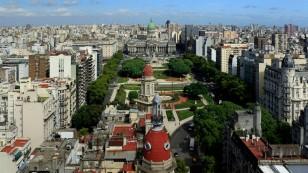Aussicht auf die Plaza del Congreso