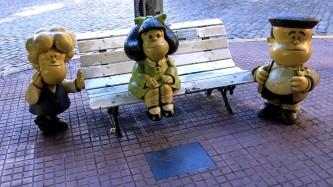 ...um mit Susanita, Marfald und Manolito fotografiert zu werden.